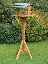 Traditional wooden bird table garden birds feeder feeding station free standing