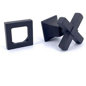 Restoration Hardware Dillon Cross X Orb Turn HandleFlat Black Diverter $495