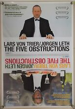 THE FIVE OBSTRUCTIONS ROLLED ORIG 1SH MOVIE POSTER LARS VON TRIER (2003)