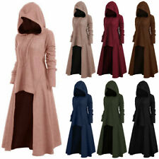 Plus Size Womens Ladies High Low Hem Cloak Maxi Dress Witch Hoodies Coat Costume
