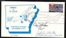 1977 flight Spirit of St Louis, Little Rock signed by both pilots