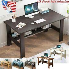 Computer Desk Table Workstation Home Office Student Dorm Laptop Study w/Shelf US