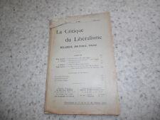 1912.Critique du libéralisme religieux politique social.N°86.Emmanuel Barbier