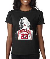 New Way 193 - Women's T-Shirt Marilyn Monroe BULLS 23 Jersey Jordan