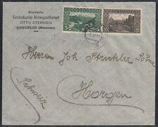 39325) DOBERLIN Bosnien 1911 Mi.-Nr. 32, 35 auf Brief nach Horgen Schweiz