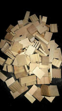 New! 100 Small to Med Natural Wood Assorted Blocks Bird Chews- Crafts- No Hole