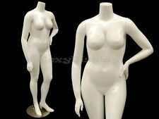 Female Mature Plus Size Headless mannequin with high heel feet #NANCYBW3S-MD