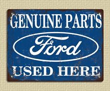 metal sign plaque vintage retro style Ford parts advert garage tin 20 x 15cm