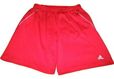 Adidas Red Polyester Mens Basketball Running Gym Stretch Polyester Shorts sz XL