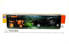 OFFICIAL KUBOTA-DODGE DUALLY 3500 Pickup Truck w/Trailer & Tractor Toy Set