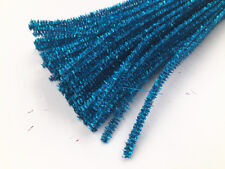 10-100PCS Chenille Stems Pipe Cleaners craft ornament making toys blue 30 cm