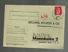 1944 paris France Germany Feldpost Cover to Heidelberg