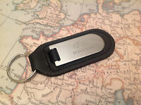 HYUNDAI Key Ring Blind Etched On Leather i 10 20 30 40 IX 20 55 SANTA FE I