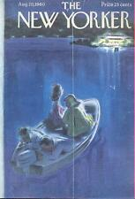 1960 Leonard Dove ART COVER ONLY motor boat couples stranded cute boathouse deco