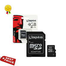Genuino CLASE (4) 4gb Kingston Micro SDHC memoria Tarjeta Con Sd Adaptador HC