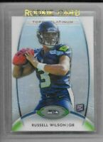 Russell Wilson 2012 Topps PLATINUM Refractor Rookie Card RC ~ Seattle Seahawks!