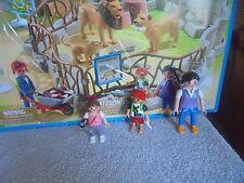 Playmobil  6634 City Life Zoo Mom Camera Girl Zebra Shirt Boy Family lot 3 Peopl