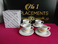 4 x Portmeirion Coast Espresso Cups and Saucers Brand New 5 Sets Available