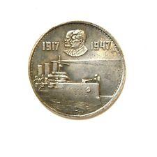 ONE RUBLE 1947***LENIN***STALIN***SOVIET UNION***USSR***EXONUMIA SILVERED COIN