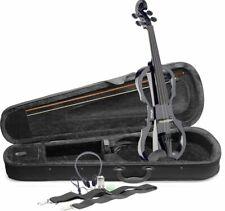 Stagg 4/4 Electric Violin with Soft Case & Headphones - Black - EVN X-4/4 BK