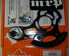 MRP 2X Steel Chain Guide MTB Dual Ring 34-40T ISCG Bicycle Frame Mount Black NEW