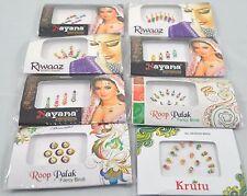 12 Packs Indian Bollywood Bindi Dots Premium Tattoo Jewels Body Art Stick on