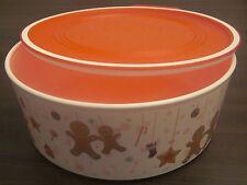 Tupperware A 195 Quadro Runde 1,5 l Weiß / Rot Weihnachten Keksdose Neu OVP