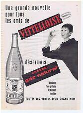 PUBLICITE ADVERTISING 104 1960 LA VITTELLOISE imprégnée de gaz naturel