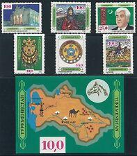 1992 Turkmenistan #2 - #7 & #9 MINT NEVER HINGED