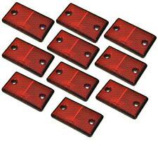 Réflecteur arrière rectangulaire rouge Pack de 10 Trailer Clôture Barrière Post