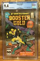 Booster Gold #1 1st App of Booster Gold & Skeets White 1986 CGC 9.4