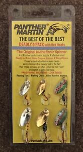 PANTHER MARTIN DEADLY SIX PACK-6 PIECE VARIETY OF MULTI SPECIES SPINNER BAITS