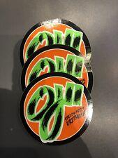 Lot Of (3) Santa Cruz OJ Wheels Skateboard Sticker