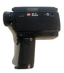 GAF XL/2 Sound Super 8 Movie Camera  UNTESTED, Camera ONLY Zoom Lens