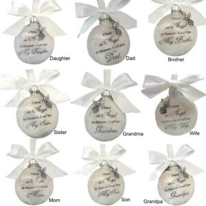 Personalised Memory Bauble Christmas Gifts Balls Commemorate Ornament Decoration