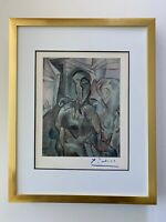 PABLO PICASSO CIRCA 1948 BEAUTIFUL SIGNED PRINT MATTED 11 X 14 + LIST