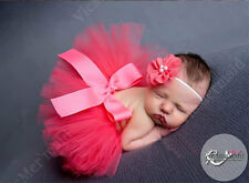 Newborn Baby Girl Tutu & Headband Princess Dress Skirt Photo Prop Costume Red