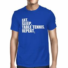 1Tee Homme eat sleep tennis de table répéter T-Shirt