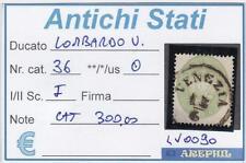 ANTICHI STATI - LOMBARDO VENETO - LV0090 - NR. 36 USATO - CATALOGO 300€