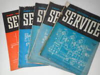 Set of 5 1946 Service Technical Journal of Radio Trade Repair Shops
