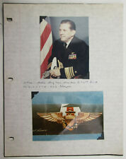USN Vice Admiral William I Martin 1967 Photograph and Signiture Aviation Pioneer