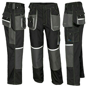 PROFESSIONAL WORK TROUSERS Knee Overalls MENS Pad Multi Pocket /// EURO CLASSIC