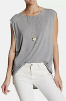 Free People OB577537 Womens Sz Small The It Muscle Tee Sleeveless Tank Top Grey