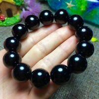 14MM Black Tourmaline Fancy Bracelets for Chakra Balancing Crystal Healing