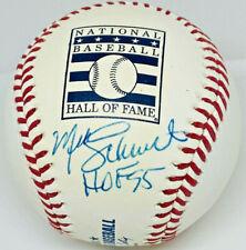 """Phillies Mike Schmidt Signed """"HOF 95"""" HOF Logo Baseball MLB + Fanatics Hologram"""