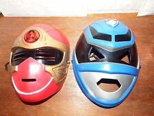 Bundle 2 kids power rangers masks plastic red blue S.P.D. Rubie's fancy dress up