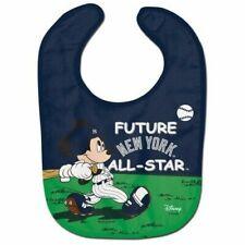 New York Yankees Baby Bib Disney Mickey Mouse Feeding Infant MLB Baseball Fan