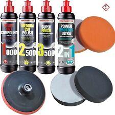 Menzerna 1000 + 2500 + 3500 + Ultra 2in1 + Schwämme + Teller Polierset SET-MENZ4