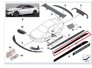 Genuine BMW M Performance Matte Black Sill Trim Both Sides M4 PN:511925350719/20