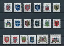LM82424 Latvia heraldry coat of arms fine lot MNH